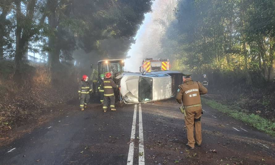 Escarcha sería causa de accidente en ruta Los Lagos-Panguipulli