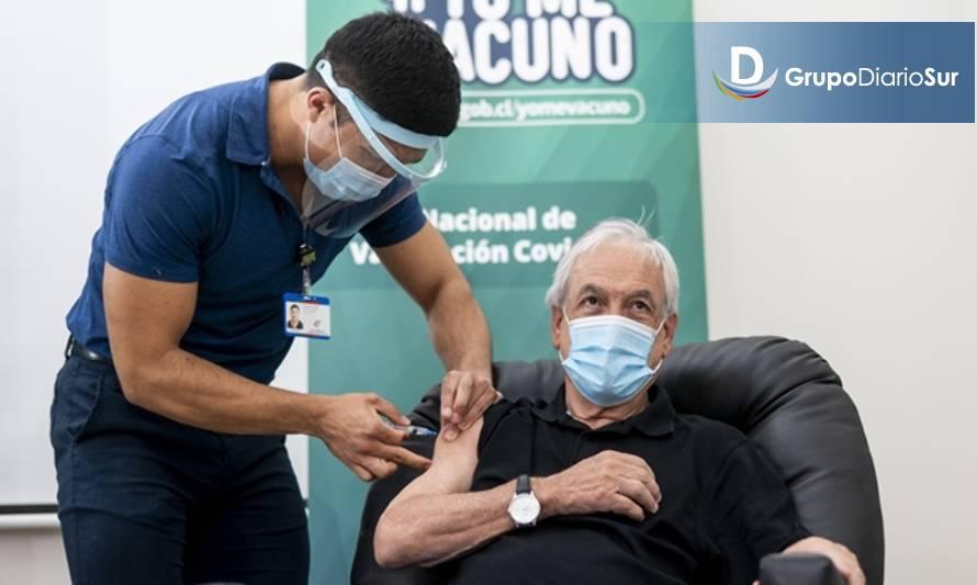 Presidente Piñera recibe primera dosis de la vacuna contra la covid-19